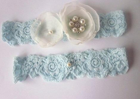 Bridal Garter Set (including toss garter) - Simply Flowers