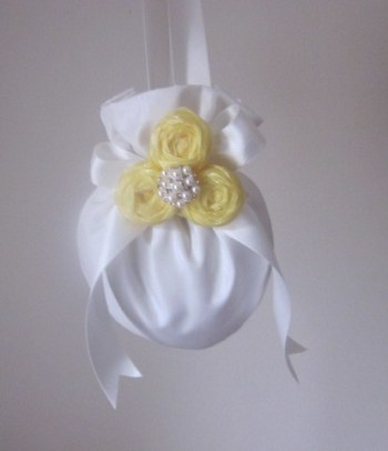 Flower Girl Bag - Ivory & Yellow - Available in all wedding colours