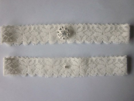 Bridal Garter Set- Simply Chic Ivory Garter - The Original Simply Chic Garter