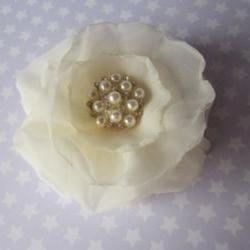 Stardust Bridal Hair Clip / Fascinator or Brooch - Ivory - available in all colours